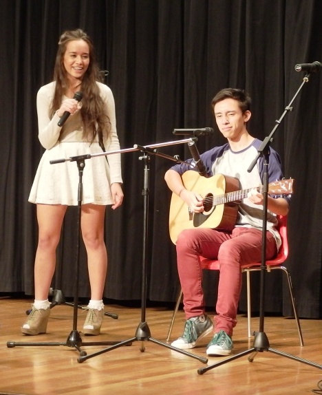 Liezl and Ariel performing in the 2014 Celebrate Mooroolbark Talent Quest