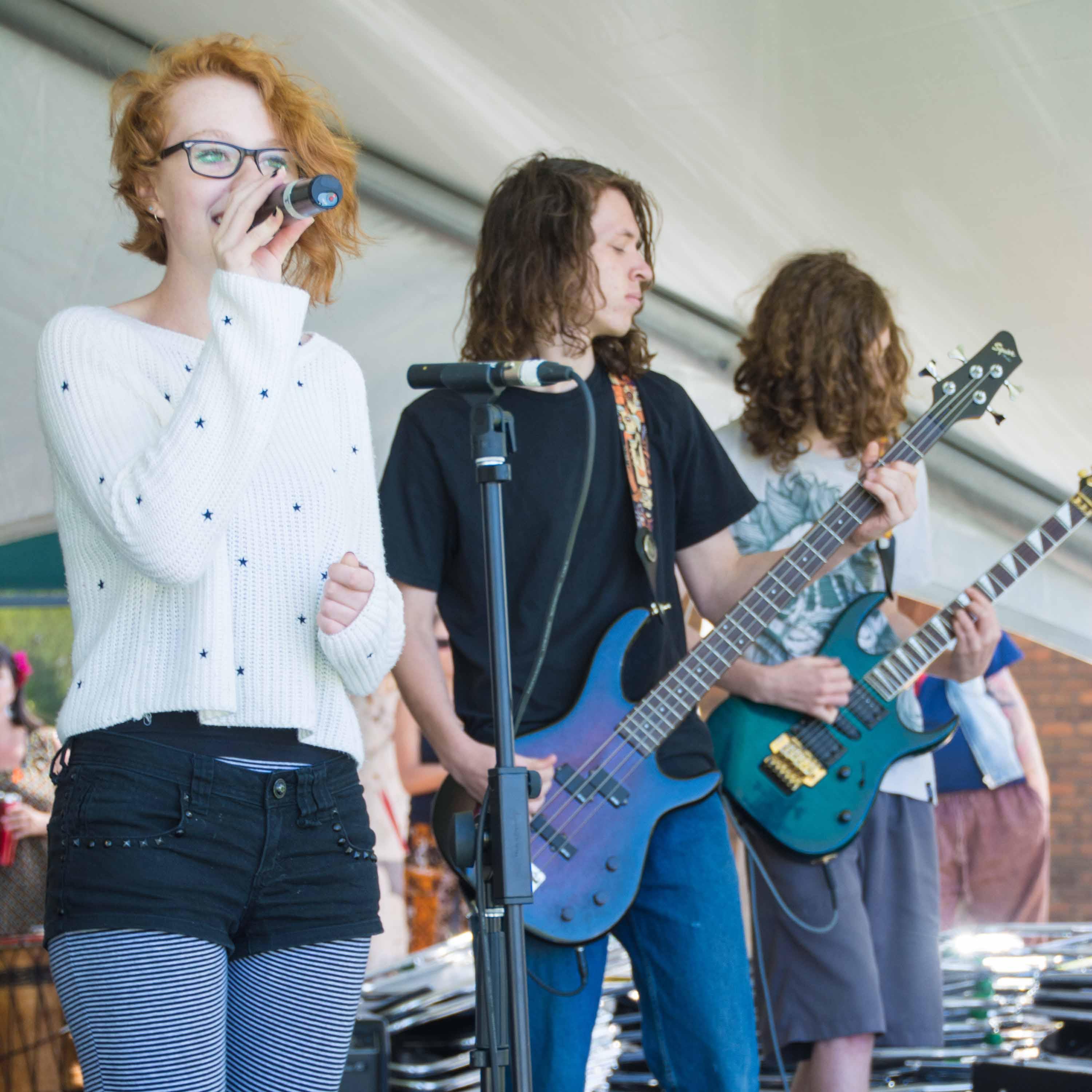 Local band, INH, at Celebrate Mooroolbark 2015