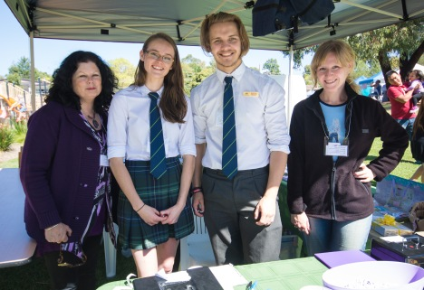 Volunteers at the Lucky Straws stalls, Celebrate Mooroolbark 2015. Photo by Greg Carrick.