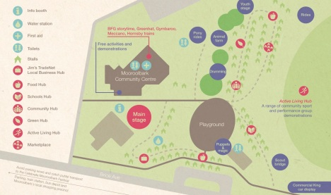 Site map of 2017 festival