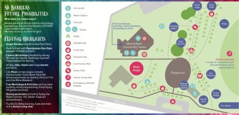 Site Map and highlights at Celebrate Mooroolbark 2018.