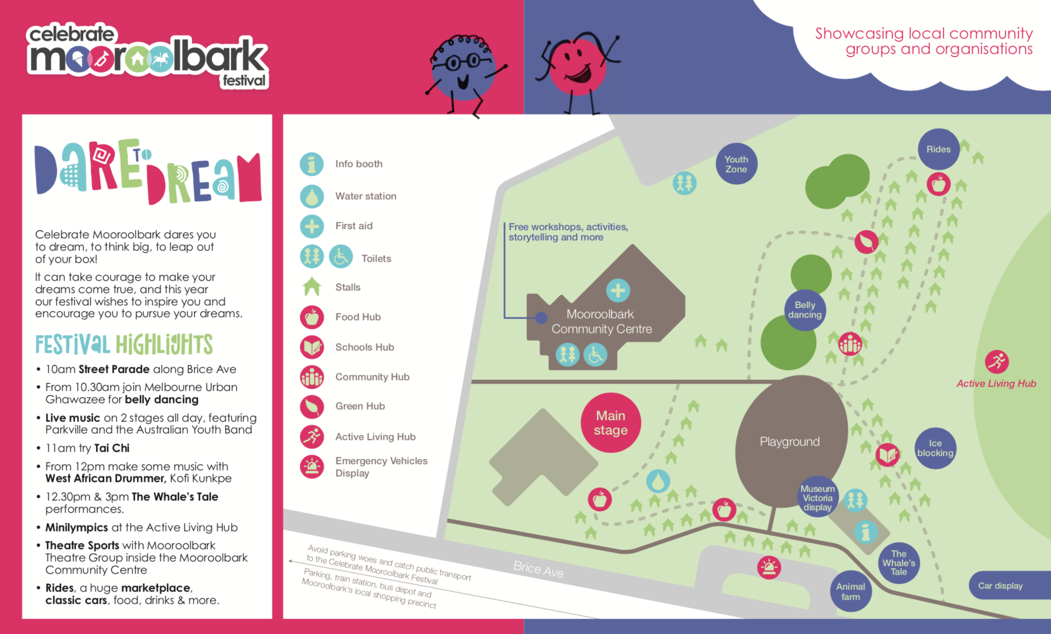 Celebrate Mooroolbark 2019 Site Map