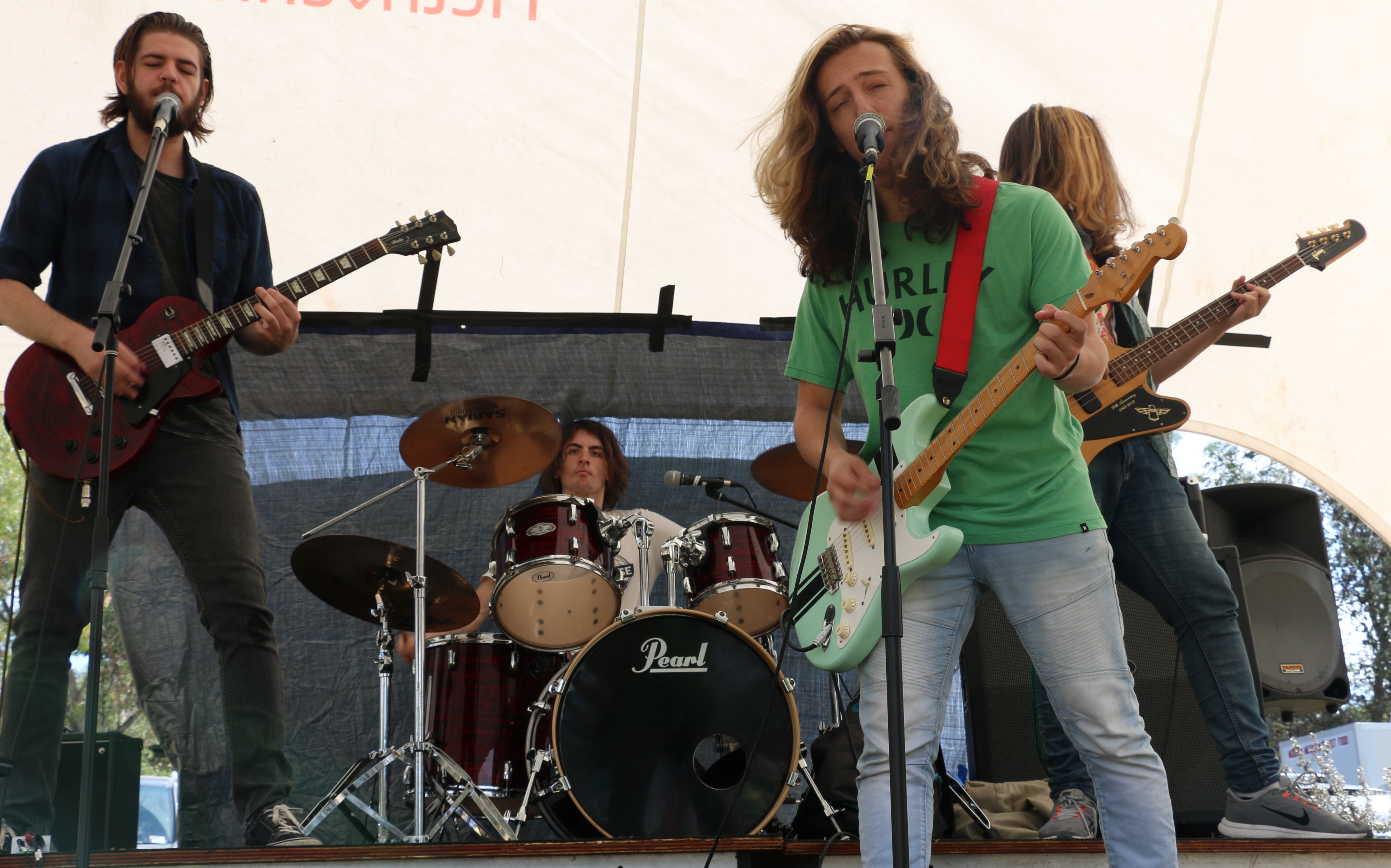 Day Dreamers band performing on the Youth Stage at Celebrate Mooroolbark 2019. Photo by Linda Williams.